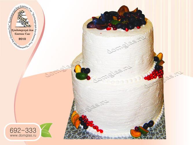 торт безмастичный крем фрукты ягоды