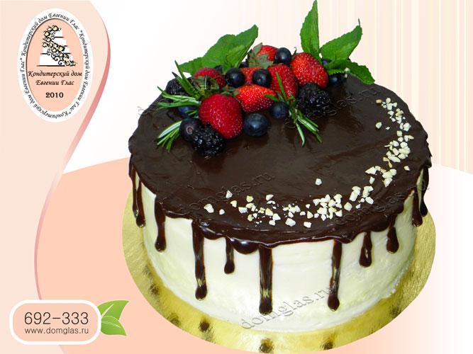 торт безмастичный лесные ягоды клубника шоколад