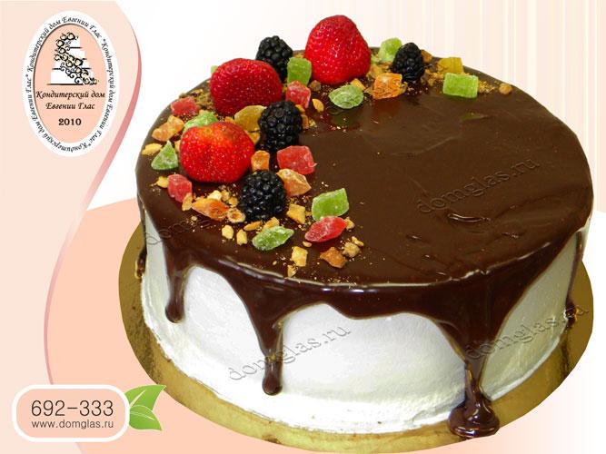 торт безмастичный клубника цукаты шоколад