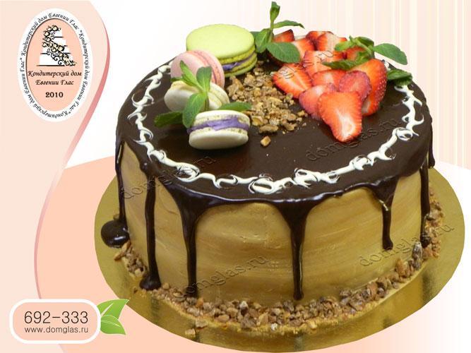 торт безмастичный макаруны шоколад