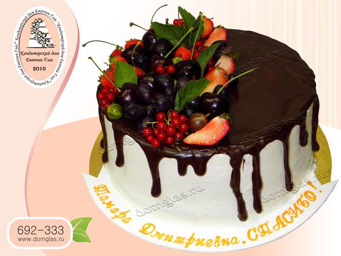 торт безмастичный ягода черешня глазурь