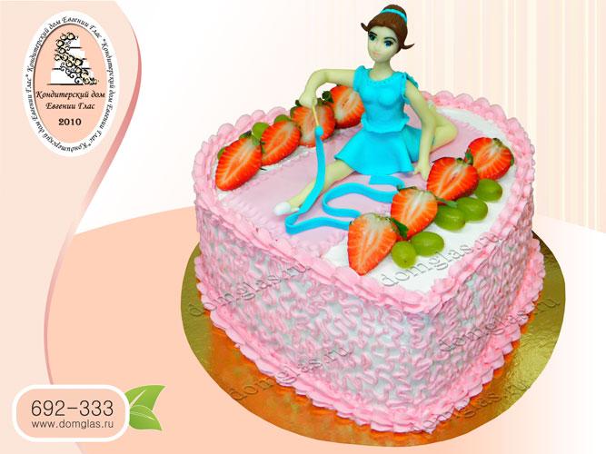 торт безмастичный кремовый детский гимнастка