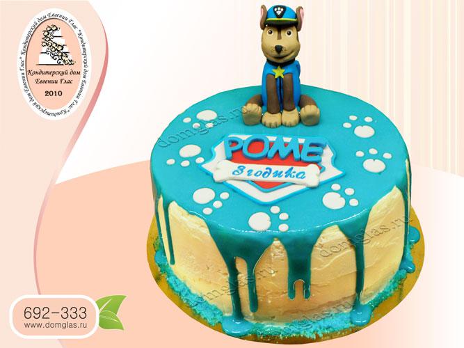 торт безмастичный глазурный детский гонщик