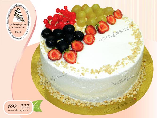 торт безмастичный кремовый ягоды
