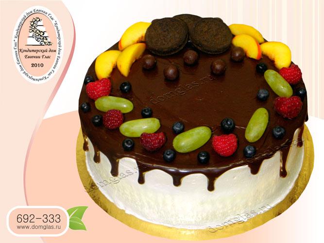 торт безмастичный глазурный ягодный печенье орео