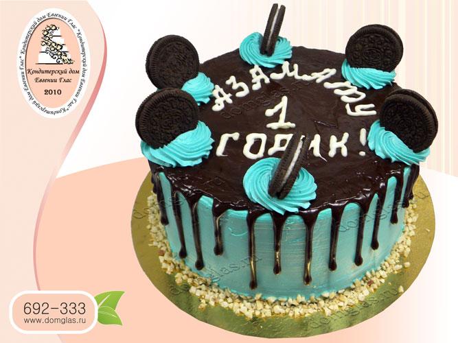 торт безмастичный глазурный с печеньем орео