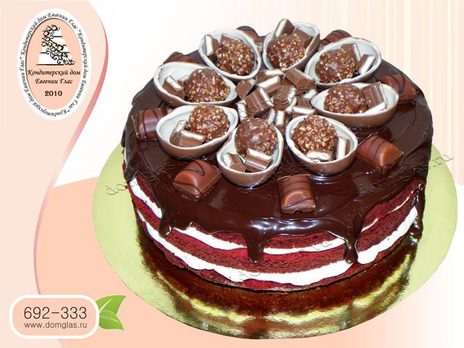 торт безмастичный шоколад конфеты