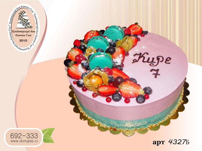 б торт безмастичный фрукты макаронс