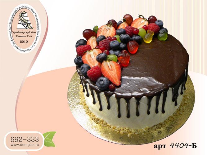 б торт глазурные потеки ягоды