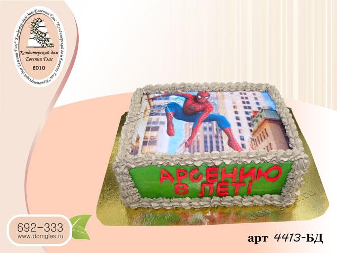 бд детский торт фото человек паук