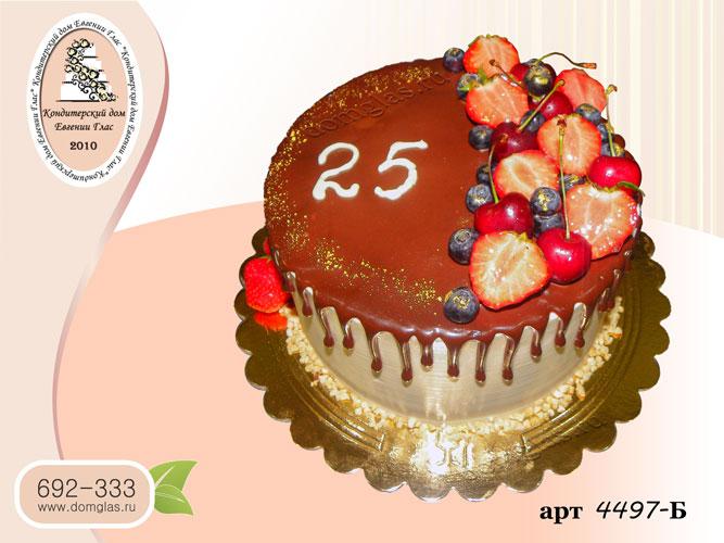 б торт шоколадная глазурь ягоды черешня