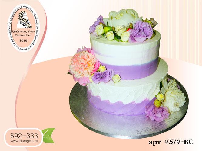 бс торт два яруса цветы