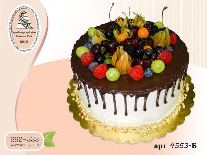 б торт ягоды черешня физалис потеки