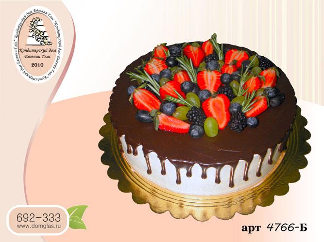 б торт шоколадные потеки ягоды