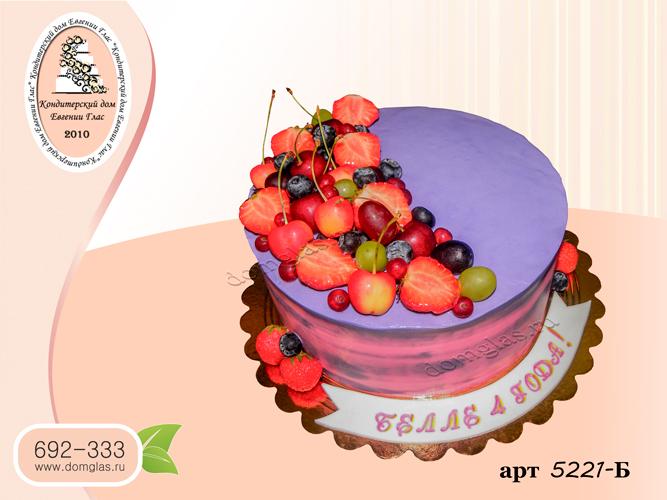 б торт кремовый ягоды