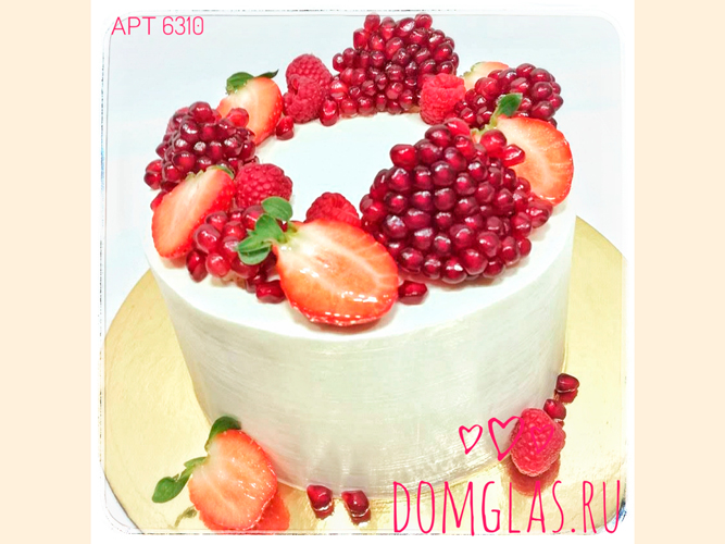 безмастичный  белый с гранатом и ягодами