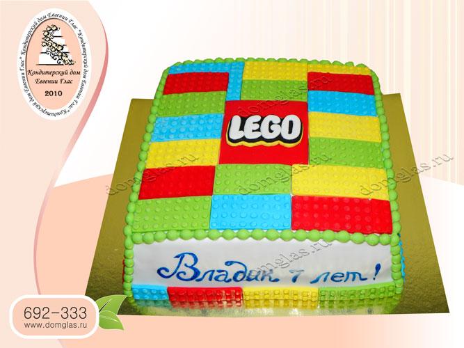 торт детский лего кубики конструктор
