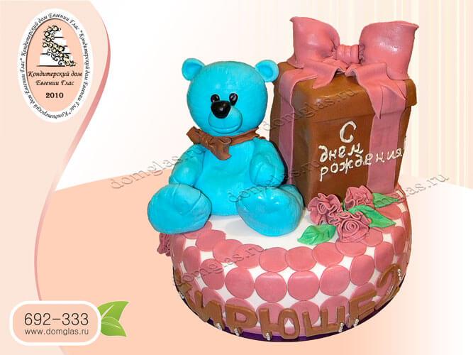 торт детский подарок коробка мишка