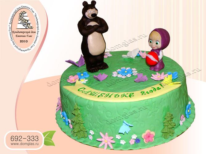 торт детский маша и медведь фигурки