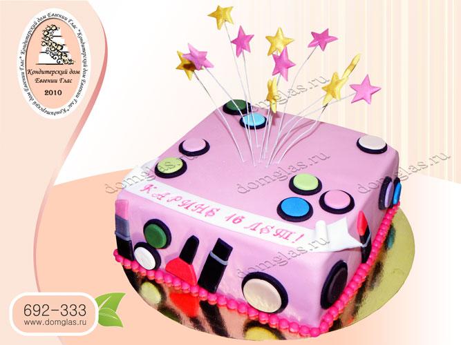 торт детский косметка звездочки