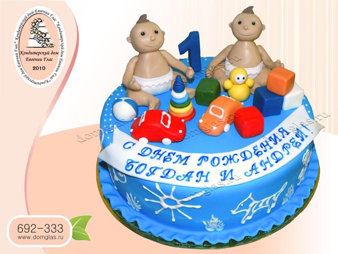 торт детский близнецы кубики пирамидка машинка