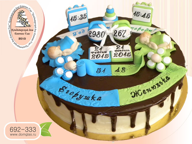 торт детский двойняшки рост вес дата