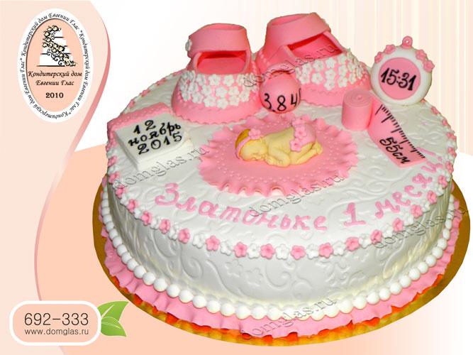 торт детский младенец метрика