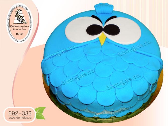 торт детский сова