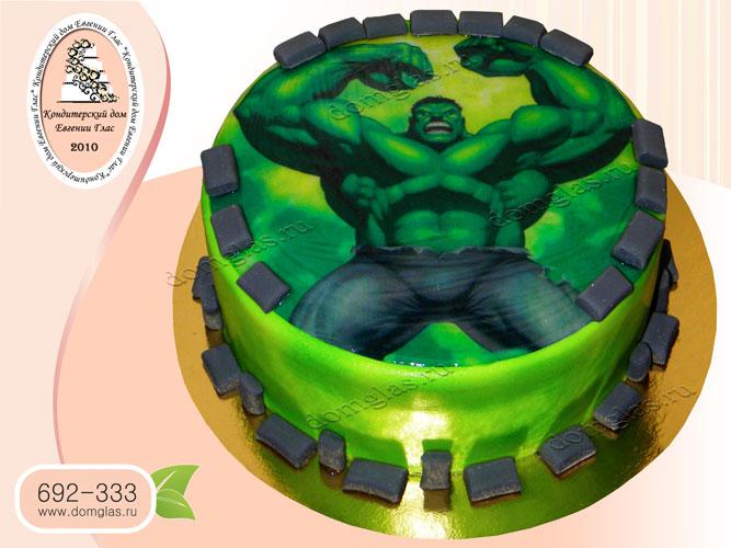 торт детский халк сепергерой