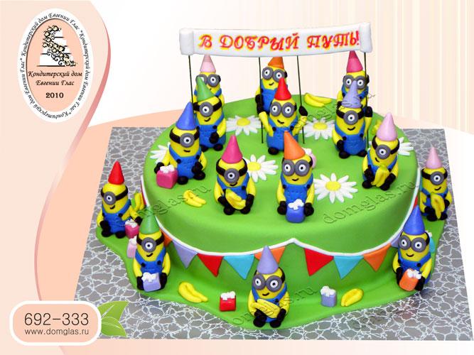 торт детский миньоны детский сад