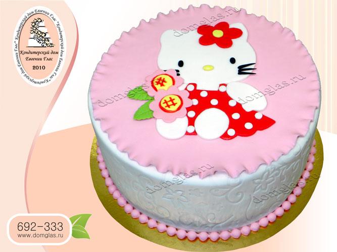 торт детский китти