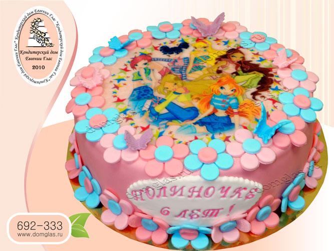 торт детский феи винкс