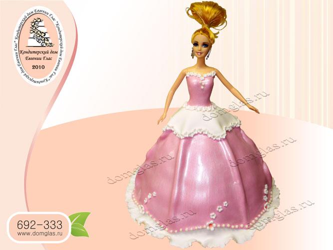 торт детский кукла барби принцесса платье