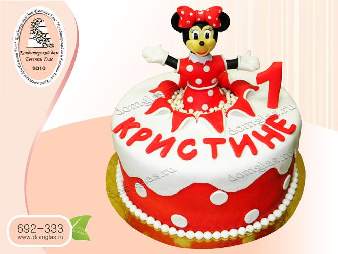 торт детский мини маус мышка