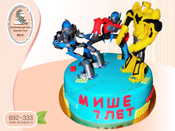 торт детский трансформеры