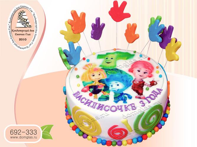 торт детский фиксики
