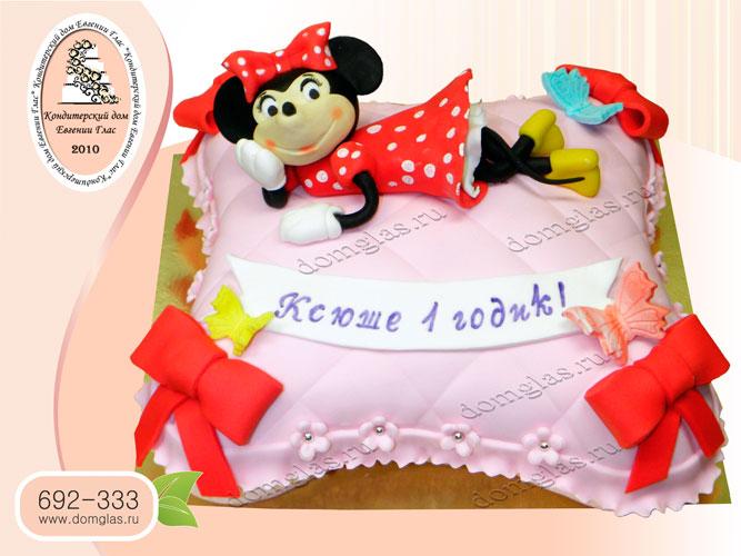 торт детский мини маус на подушке