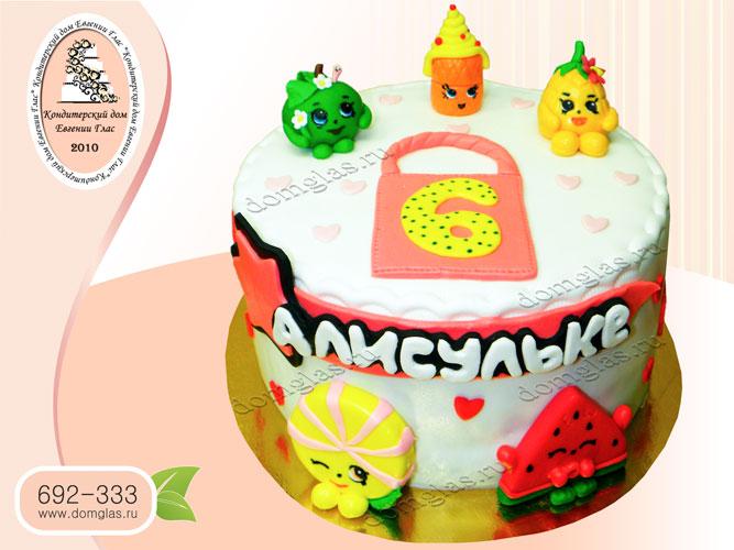 торт детский шопкинсы