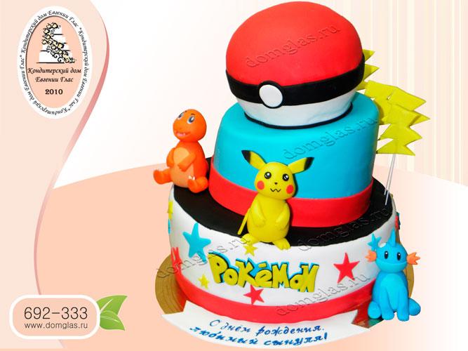 торт детский покемоны пикачу