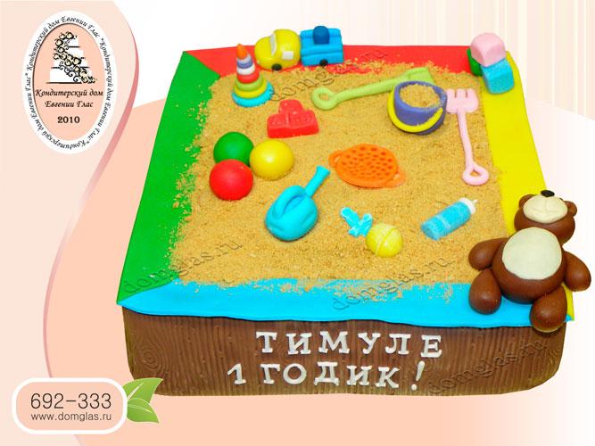 торт детский песочница