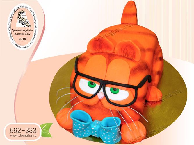 торт детский 3Д кот Гарфилд
