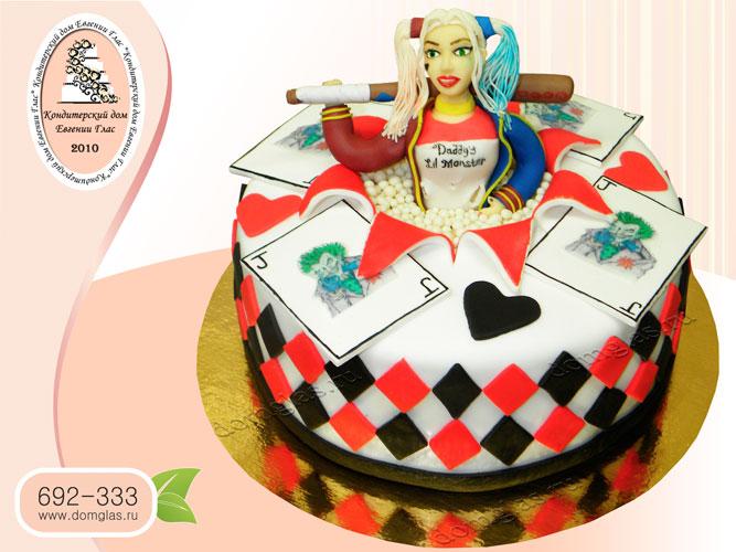 торт детский Харли Квинн