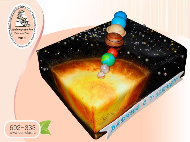 торт детский солнечная система планеты