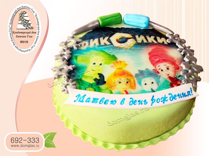 торт детский фиксики папус нолик мася симка