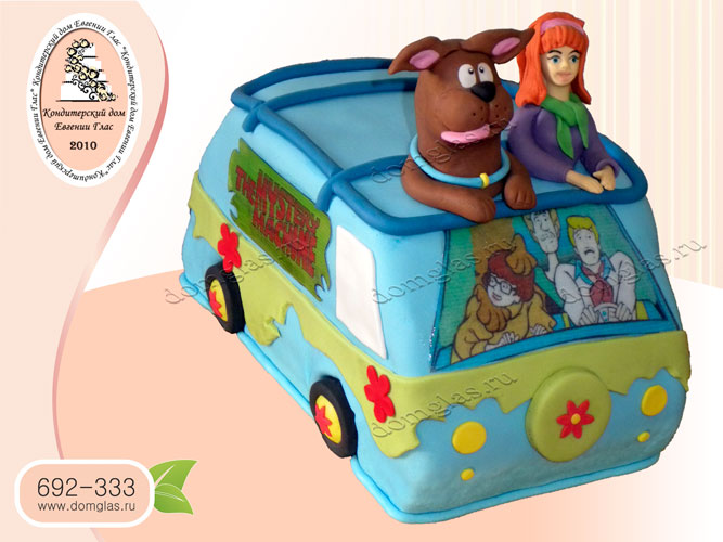 торт детский скубиду машина