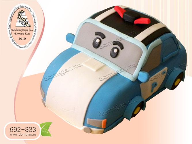торт детский поли робокар