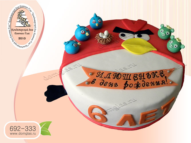 торт детский злые птички angry birds большая птица