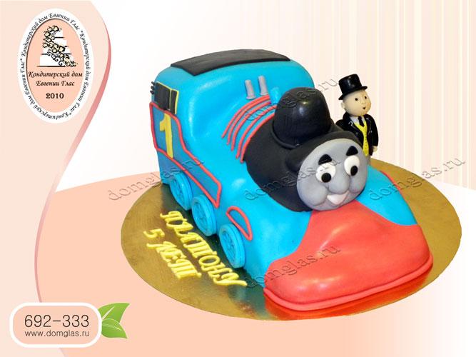 торт детский паровозик томас