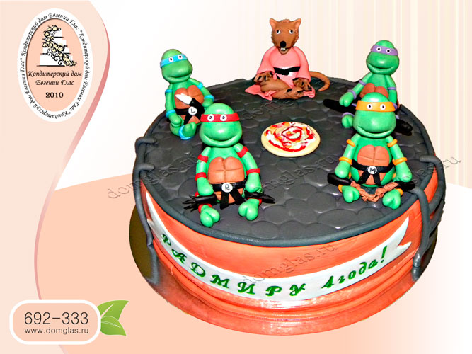 торт детский черепашки ниндзя учитель