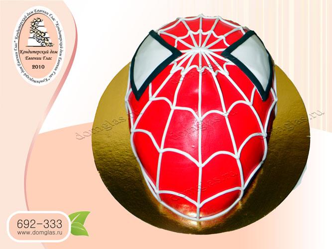 торт детский человек паук голова